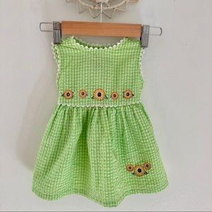 Young-land Infants Green Summer Dress Size 12M